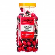 Joseph Dobson LARGESTRAWBERRY SPLIT MEGA LOLLY 90 PER JAR GIFT SWEETS KIDS PARTY