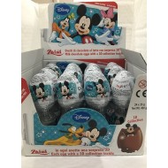 Zaini Disney Mickey Mouse Chocolate Surprise Eggs With A 3d 12 Pieces