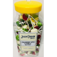 DOBSONS STRAWBERRY APPLE & VANILLA LOLLY MEGA LOLLIES JAR X 90