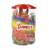 Yummys Rainbow Halal Lollies Handmade Lolly's 50 Pieces Assured