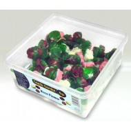 CANDY GARDEN FRUIT FLAVOUR JELLY SWEETS Rose Flower TUB OF120 PCS