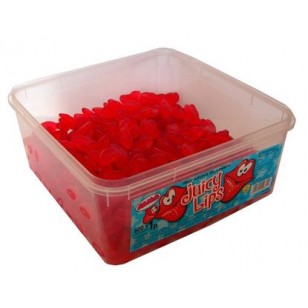 Alma Juicy Lips FRUIT FLAVOUR JELLY SWEETS HALAL TUB 600 PCS