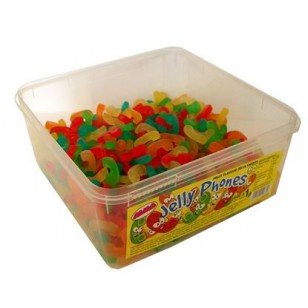 Alma Jelly Phones  FRUIT FLAVOUR JELLY SWEETS HALAL TUB 600 PCS