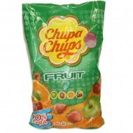 Chupa Chups Fruit Flavour Lolly Bag - Bulk Sweets (Pack of 120)