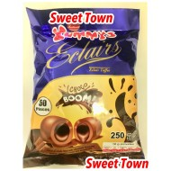 Yummys Choco Boom Eclairs Toffee Halal 250g Bags 6 Pack