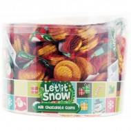 Let It Snow Milk Chocolate Coins 60 X 25g Suitable Vegetarian