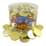 Full Tub Milk Chocolate Coins Gold Foil 120