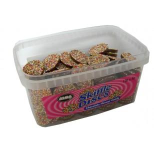 Alma Skiffle Discs Milk Chocolate Flavour Candy Tub Of 120 Pcs