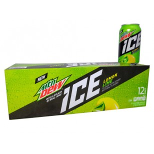 Mountain Dew Ice, American 12 Oz Cans (Pack Of 12 Usa