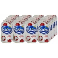 Rubicon Sparkling Lychee Juice Drink Cans, 330ml - Pack Of 24