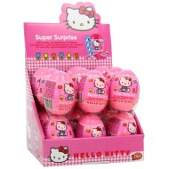 Hello Kitty Super Surprise Egg Display (Pack Of 18) 10g What Next Candy