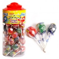 Mega Tongue Painter Lollipops - 50 Pack