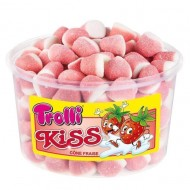 Trolli Kiss Cone Fraise TUB 150 PIECES