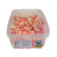 Heavenly Delights Strawberry & Cream Kisses Tub Of 125 Pcs *Halal Hmc Certified