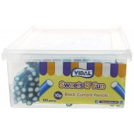 Vidal Blackcurrant Pencils (Pack of 1, Total 100 Pieces)