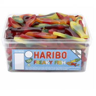 HARIBO FREAK FISH - FRUIT FLAVOUR SWEETS 120 PIECES suitable for Vegetarians