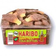 HARIBO GIANT FIZZY COLA BOTTLES 60 PIECES