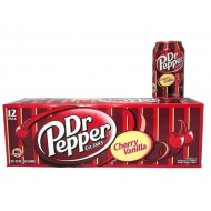 Dr Pepper Cherry Vanilla (355ml) - 24 Pack 144 Oz By American Import Usa Soda