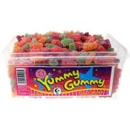 Halal Yummy Gummy Jelly Halal Fizzy Teddy Bears (Tub Of 600)