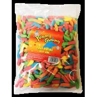 Yummy Gummy Halal Sour Worms 1kg Bag